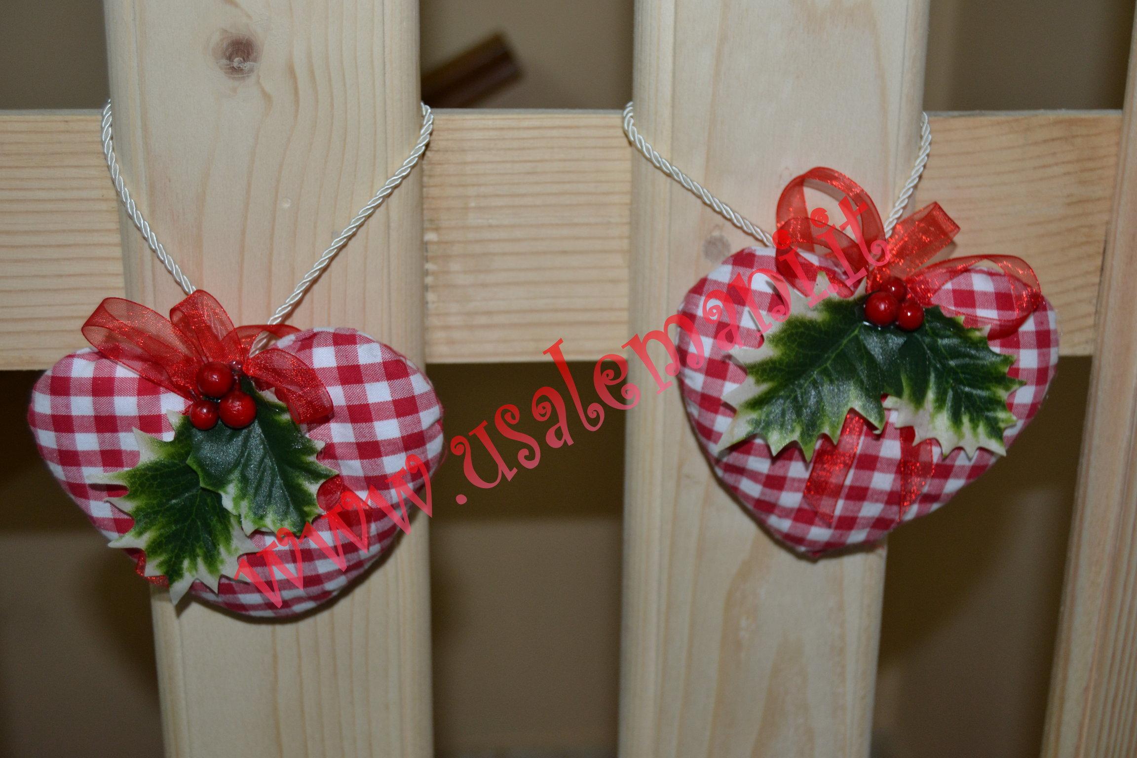 Molto Decori di Natale fai da te: cuoricini shabby, cucito creativo  TY86