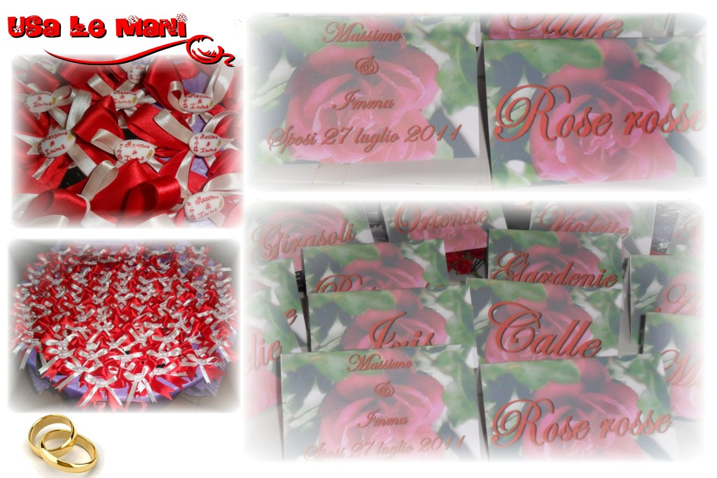 Tableau Matrimonio Tema Rose : Matrimonio tema fiori colore rosso theme wedding red