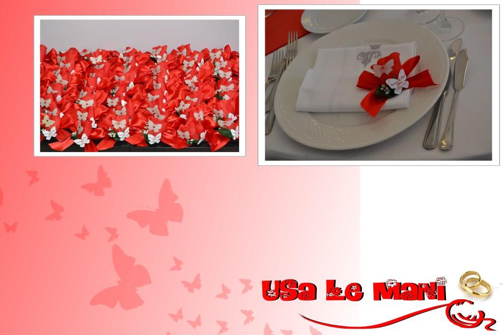 Matrimonio Tema Rosso : Matrimonio tema farfalle colore rosso usa le mani
