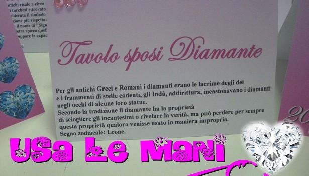 Tableau Matrimonio Tema Diamanti : Matrimonio tema pietre preziose colore fucsia usa le mani