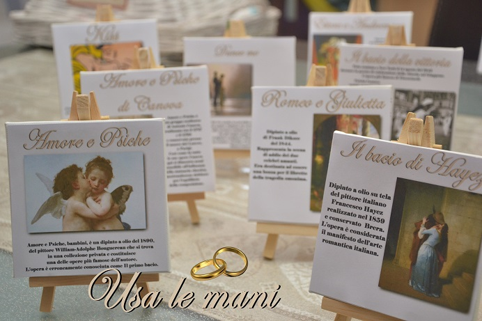 Matrimonio a tema: lamore nellarte wedding theme: love in art