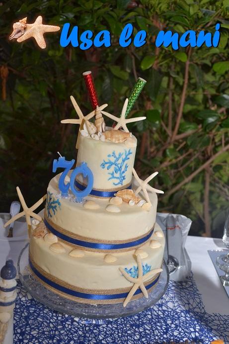 Idee compleanno 70 anni party tema mare usa le mani for Decorazioni torte tema mare