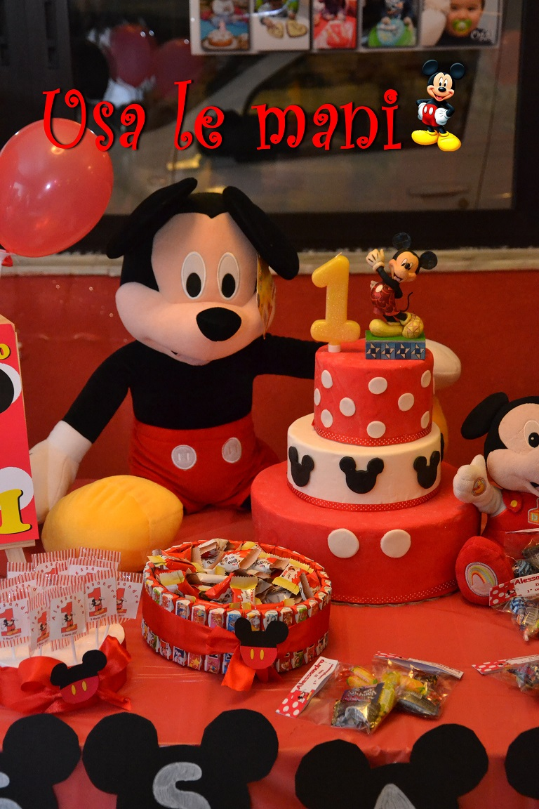 Decori Party Fai Da Te Topolino Mickey Mouse Party Diy Usa Le Mani