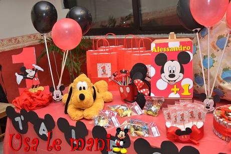 Tavolo Compleanno Topolino : Decori party fai da te topolino mickey mouse party diy usa le mani