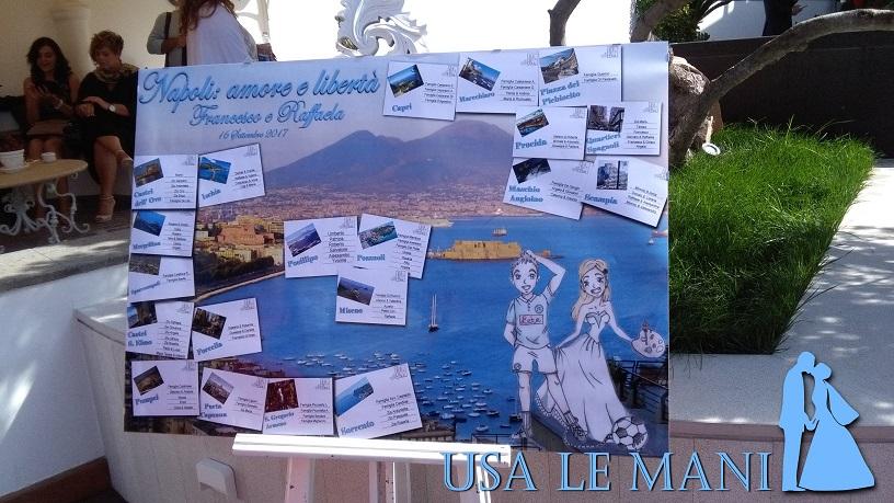 Matrimonio In Napoletano : Matrimonio tema napoli e sposi quot cartonizzati usa le mani