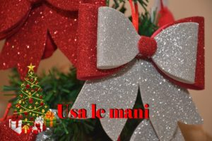 fiocco di natale in gomma crepla christmas diy usa le mani