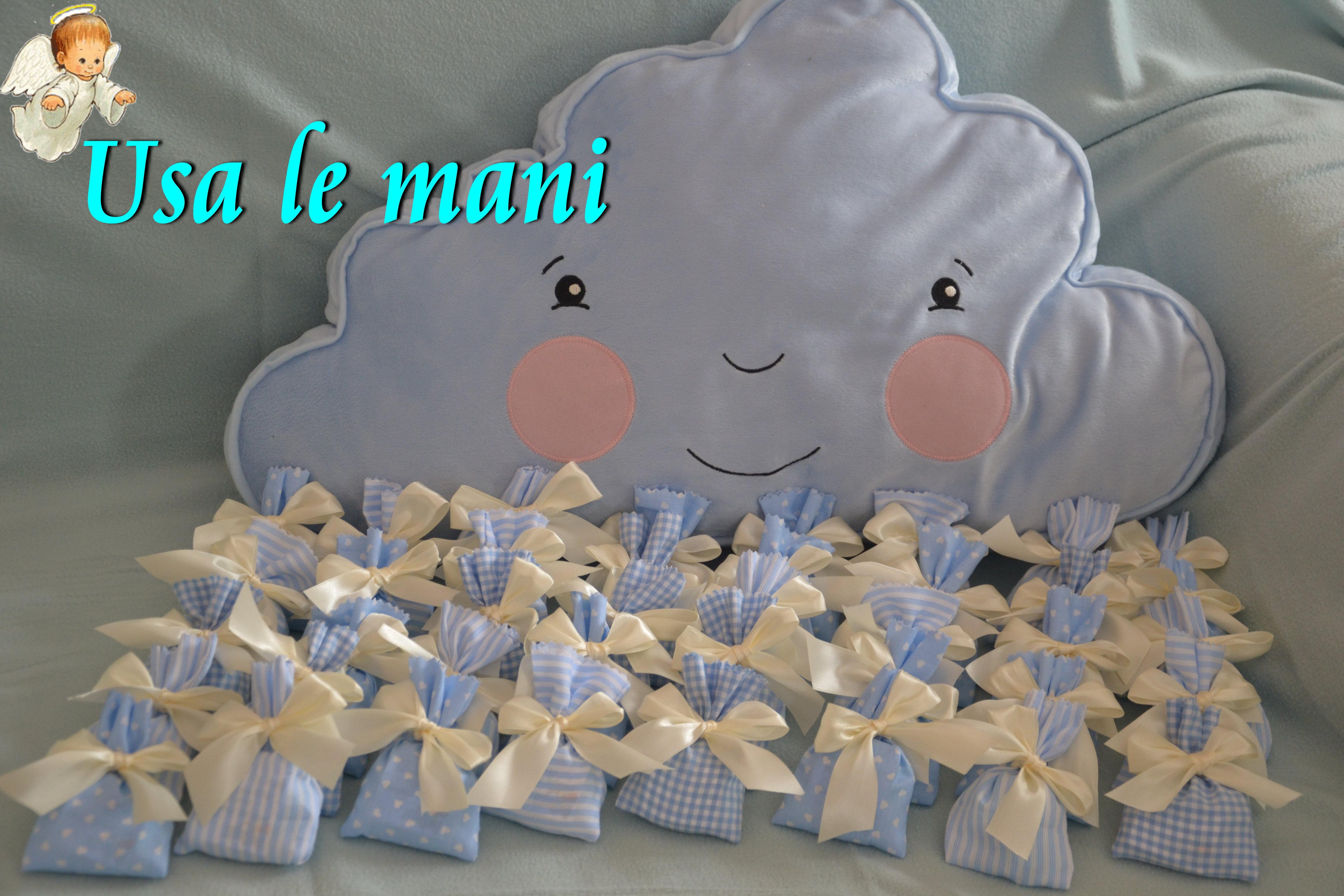 Bomboniere nascita fai da te sacchettini porta confetti for Spranga per porta fai da te