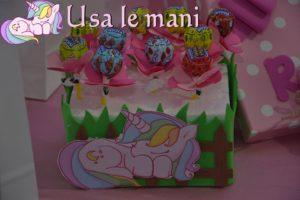 piantina di lecca lecca tema unicorno
