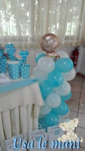 colonna di palloncini battesimo