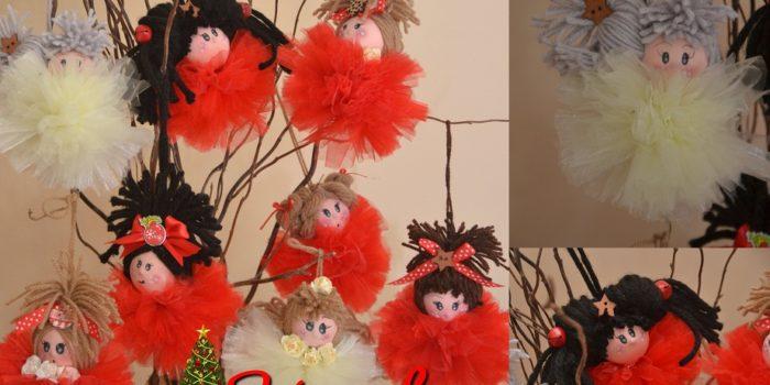 Bambola di tulle di Natale