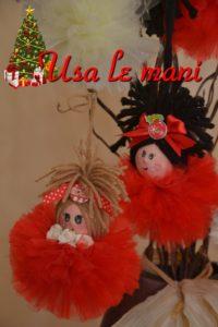bambola di Natale in tulle