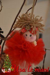 palline di Natale in tulle