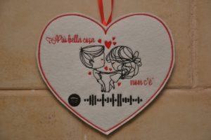 cuore con traccia spotify per san valentino