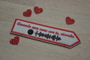segnalibro con traccia spotify per san valentino